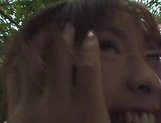 Outdoor sensations for busty Japanese beauty, Minami Aikawa picture 15
