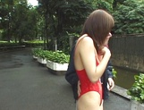 Outdoor sensations for busty Japanese beauty, Minami Aikawa picture 5