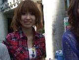 AV models Nami, Nagisa, and Midori ride and suck cock picture 12