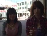 AV models Nami, Nagisa, and Midori ride and suck cock