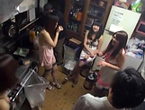 Hot Asian bimbos enjoying a worthy group sex picture 5