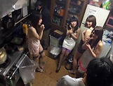 Hot Asian bimbos enjoying a worthy group sex picture 7