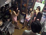 Hot Asian bimbos enjoying a worthy group sex picture 8