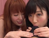 Hatano Yui, and sexy friend are Asian milfs in wicked threesome