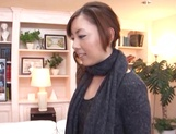 Sexy milf Maki Mizusawa gets her horny pussy explored by a group pf guys picture 13