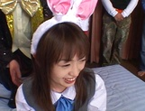 Nice Asian schoolgirl with pretty face Hikaru Hozuki in a wild gang