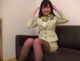 Seino Iroha and two other stewardesses enjoy hot sex picture 8