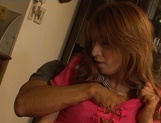 Luscious Asian milfs Anje Hoshi, and Nana Satake enjoying a rough foursome fuck picture 12