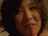 Luscious Asian milfs Anje Hoshi, and Nana Satake enjoying a rough foursome fuck