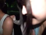 Slutty Asian babes in raunchy gang bang scene
