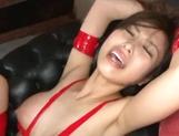 Sweet milf Akari Asahina gets tied up and fucked by three guys