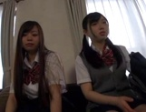 Horny schoolgirl Ryouka Asakura involved into a crazy group sex party picture 1
