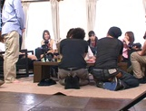 Horny schoolgirl Ryouka Asakura involved into a crazy group sex party picture 8