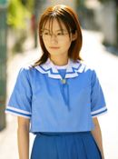 Hayakawa Saki Poses In Her School Uniform And Masturbates