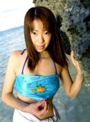 Hikari Asian Slut Has A Ball At The Beach Modeling And Stripping