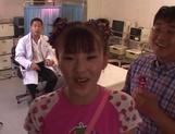 Petite Japanese teen, Mari Yamada, enjoys rough sex on cam picture 15