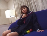 Japanese schoolgirl, Kanako Enoki plays with vibrator on cam picture 4