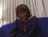 Japanese schoolgirl, Kanako Enoki plays with vibrator on cam picture 5