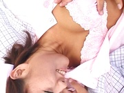 Naughty Japanese nurse is one hot milf with her patients