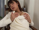 Horny Japanese MILF, Shinobu Mizushima, needs the cock badly