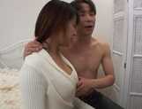 Hot guy stretches Shinobu Mizushima's pink pussy and inserts his cock deep inside