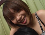 Brave Japanese teen, Ako Ishida, gives a foot job and arranges a kinky action picture 11
