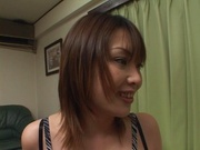 Brave Japanese teen, Ako Ishida, gives a foot job and arranges a kinky action
