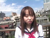 Asian schoolgirl, Ryoko Yaka feels horny and masturbates her needy pussy