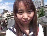 Asian schoolgirl, Ryoko Yaka feels horny and masturbates her needy pussy