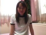 Hot sporty teen Ryoko Yaka opens legs for toy insertion
