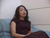Big-tittied Asian lady in nylon pantyhose masturbates her pussy picture 4