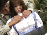Sexy Japanese maid, Tsubasa Okuna with juicy tits gets licked and gives a blow picture 11