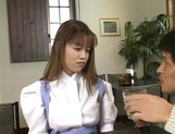 Sexy Japanese maid, Tsubasa Okuna with juicy tits gets licked and gives a blow picture 3