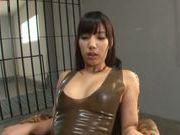 Yui Fujishima uses sex toys and vibrator to reach orgasm