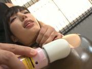 Yui Fujishima uses sex toys and vibrator to reach orgasm