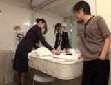 Cute Japanese stewardess in uniform gets drilled hard