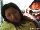 Japanese Av Idol Ran Asakawa Toys Fun In A Van picture 14