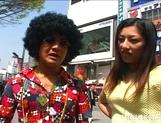Japanese Av Idol Ran Asakawa Toys Fun In A Van