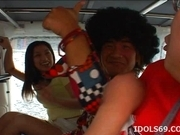 Japanese Av Idol Ran Asakawa Toys Fun In A Van