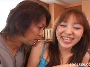 Japanese AV Model Gets Her Hairy Pussy Fucked Hard