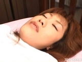 Japanese AV Model Has A Hairy Pussy Up For Fucking picture 10