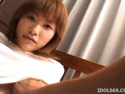 Japanese AV Model Has A Hairy Pussy Up For Fucking