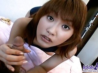 Japanese AV Model Sucks Cock Like A Professional