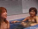 Japanese AV Models Enjoy Some Time In The Bath With A Friend