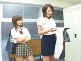 Japanese AV Models Having A Pussy Party In The Classroom picture 4