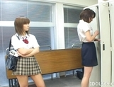 Japanese AV Models Having A Pussy Party In The Classroom
