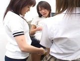 Japanese AV Models Lesbian Love Masturbation Party picture 6