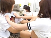 Japanese AV Models Lesbian Love Masturbation Party