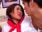 Japanese Schoolgirl Enjoys Double Penetration When She Gets Fucked