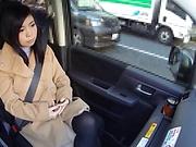Cute Seri Yuuki showing her sexy panties outdoors